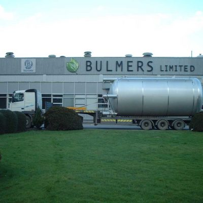 Vessel outside the Bulmers plant