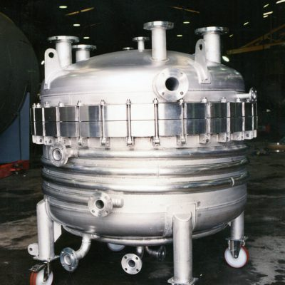 A jacketed vessel in the Radley Engineering workshop
