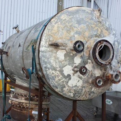 Vessel in the process of being repaired at Radley Engineering